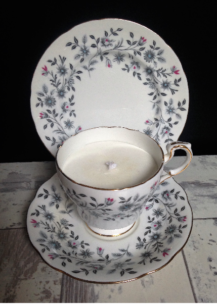 Fine China Teacup Tea Candle