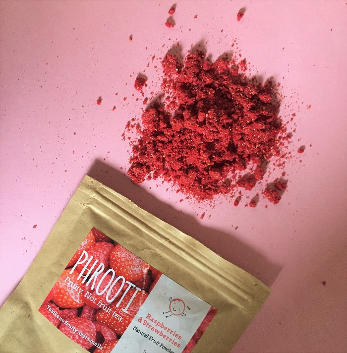 hrooti real fruit tea powder Raspberry and Strawberry