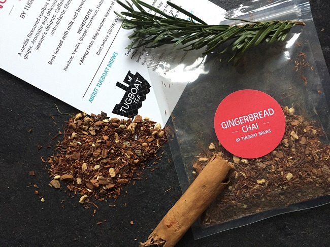Gingerbread Chai Tug Boat teas  Featured in the Tea Tourist Monthly Subscription Box
