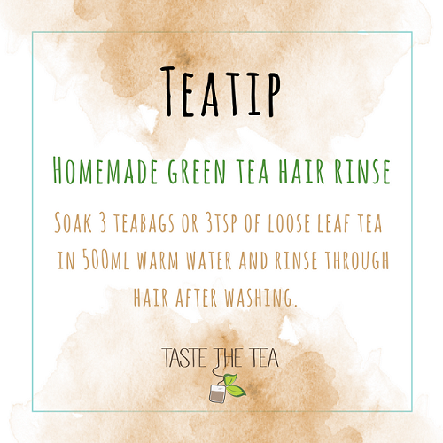 Homemade Green Tea Hair Rinse homemade beauty