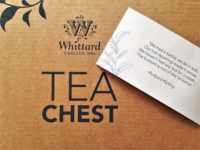 Whittard of Chelsea Tea Chest Subscription Box Rudyard Kipling Quote