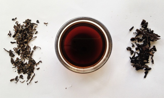 Ripe Marvel Pu-erh Teaspec tea dried and steep tea leaves with ripe puerh tea