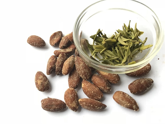 Teadaw Jade Sword Green Tea Smoked Almonds Food Pairing