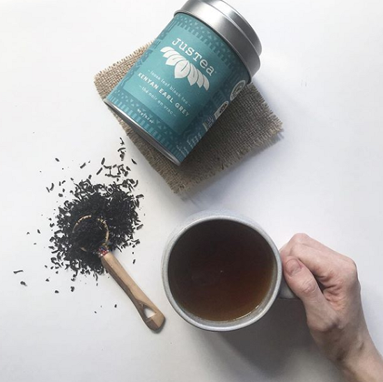 JusTea Earl Grey Organic Fair Trade Black Tea