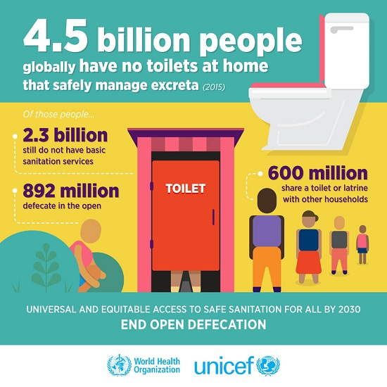 4.5 Billion have no toilet at home