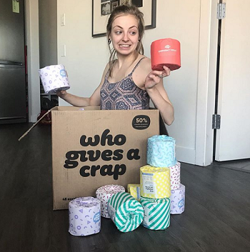Plastic free July who gives a crap toilet paper
