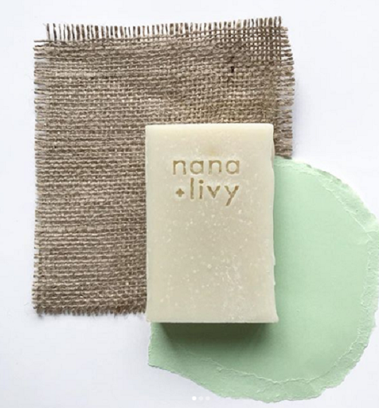 Nana and Livy Vegan zero waste shampoo bar